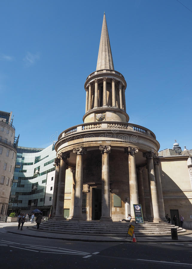 Al Kerk van Zielen in Londen stock foto's