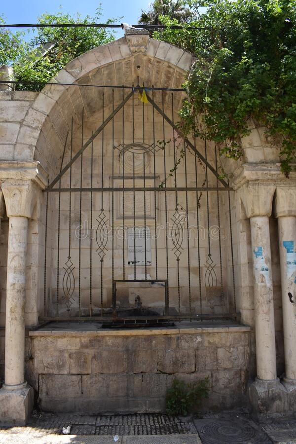 Al-Khadr Water Fountain in Nablus stock photography