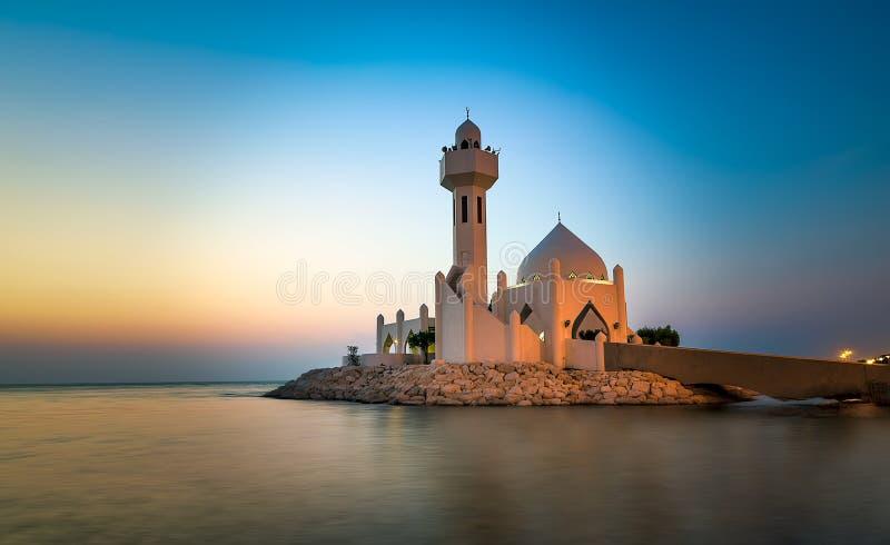 Al Khobar Corniche Mosque Sunrise bonito - saudita Arábia foto de stock