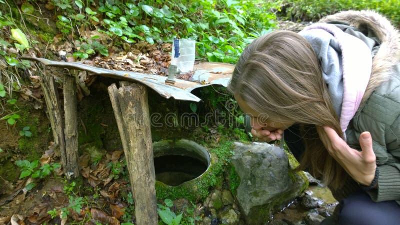 al lado de la fuente del agua dulce fotografía de archivo