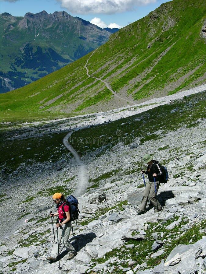 Al leeftijdensport: trekking stock fotografie