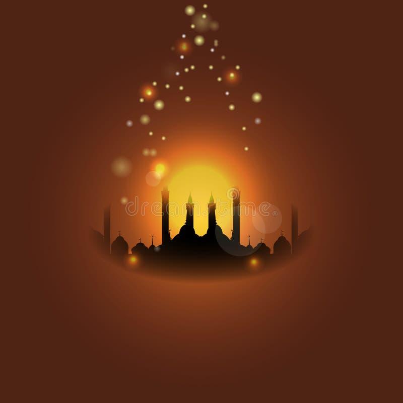 al lub Leyletul Gadr tło Przekład al i leyletul gadr jest Chwalebnie i tajemniczym nocą royalty ilustracja