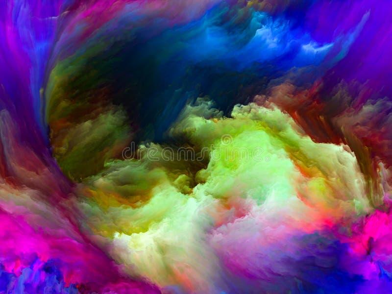 Al?m do movimento da cor ilustração do vetor