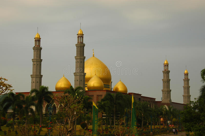 Al Mahri/moschea dorata di Masjid Dian della cupola immagini stock