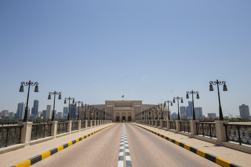 Al Majaz Amphitheatre in Sharjah, Verenigde Arabische Emiraten stock fotografie