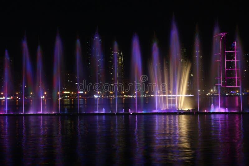 Al Majaz Waterfront royaltyfri fotografi