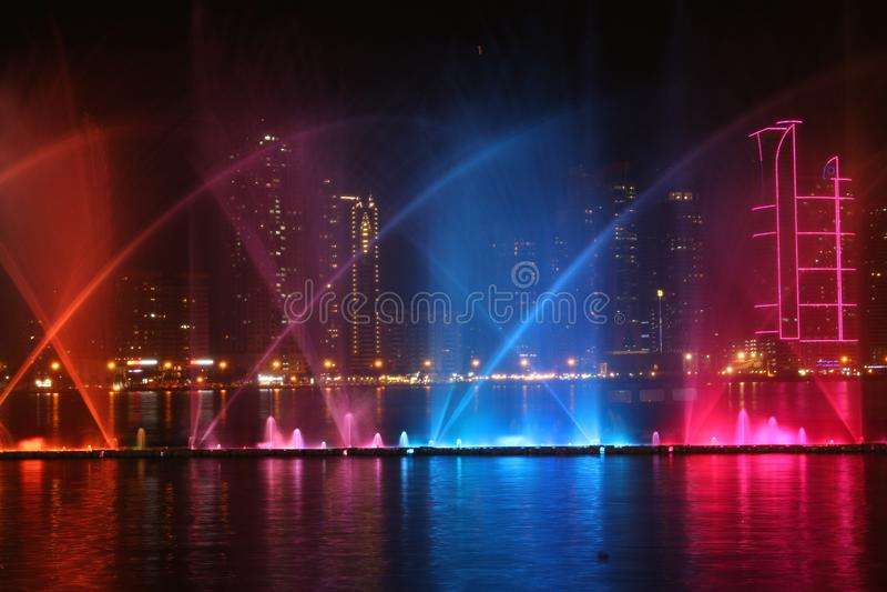 Al Majaz Waterfront arkivbild