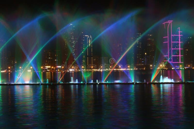 Al Majaz Waterfront arkivfoto
