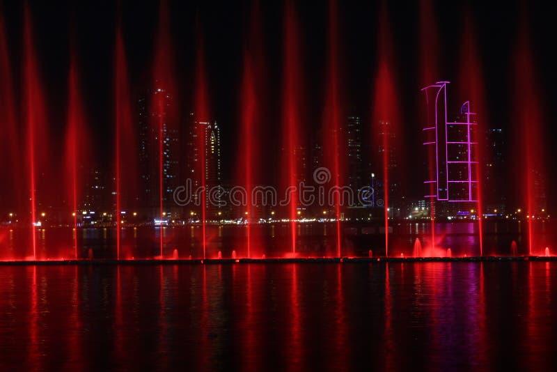 Al Majaz Waterfront arkivfoton