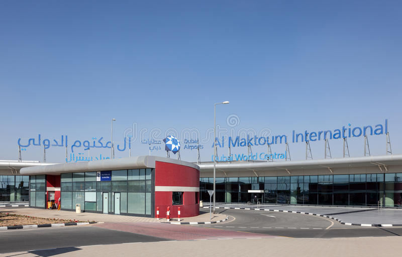 Al Maktoum International Airport à Dubaï images libres de droits