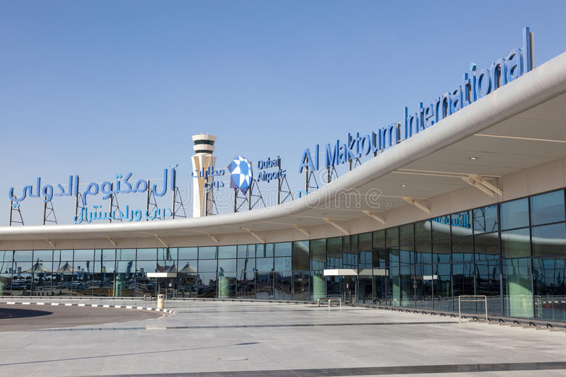 Al Maktoum International Airport à Dubaï images stock