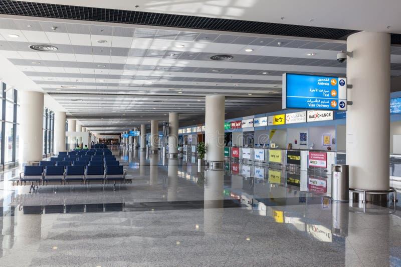 Al Maktoum lotnisko międzynarodowe w Dubaj fotografia royalty free