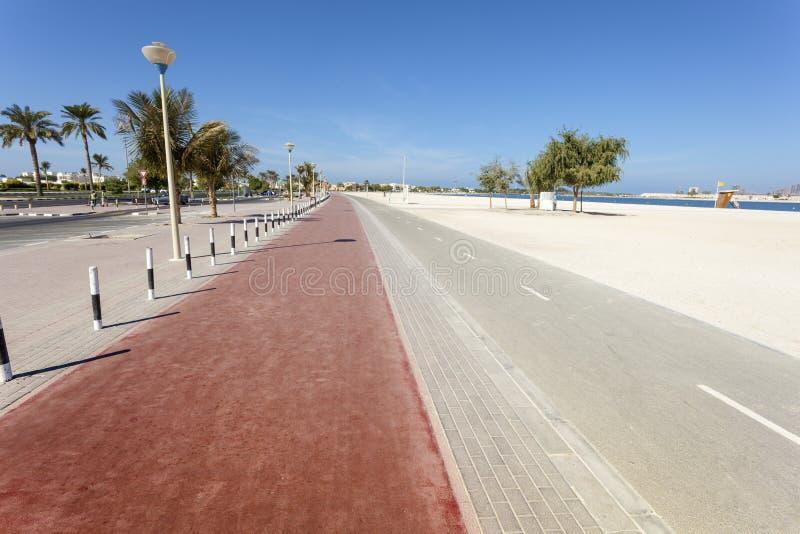 Al Mamzar Beach nel Dubai immagine stock libera da diritti