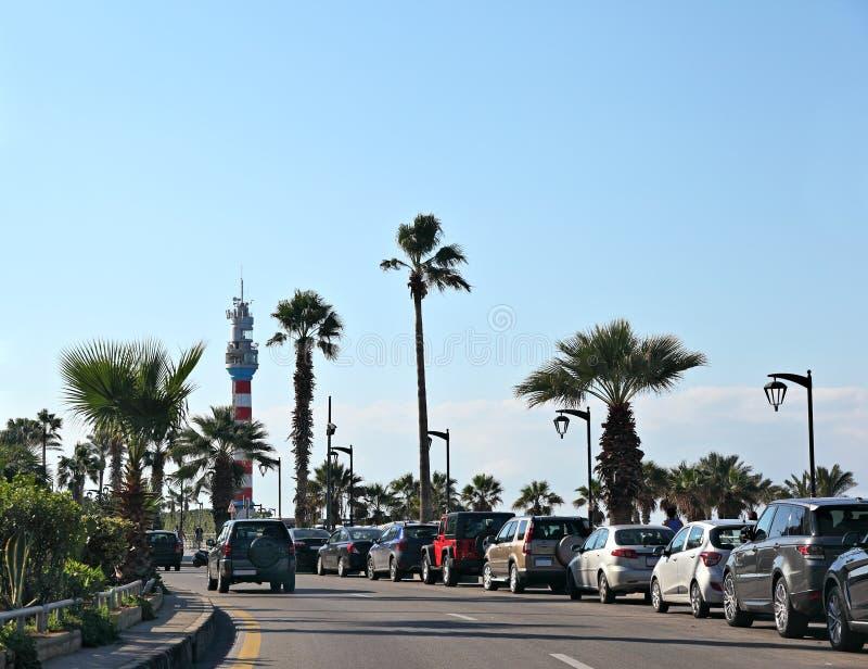 Al Manara, Beirut - Libano di Corniche fotografia stock libera da diritti