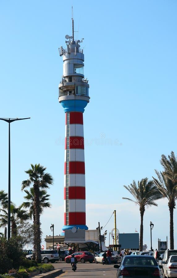 Al Manara, Beirut - Libano di Corniche immagine stock