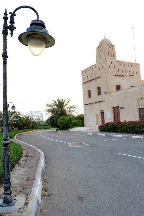 Al Maqta Fort, Abu Dhabi, Watch Tower. Al Maqta Fort, Abu Dhabi, Historic Fort of United Arab Emirates, Watch Tower Minarat, Maqta Bridge royalty free stock photo