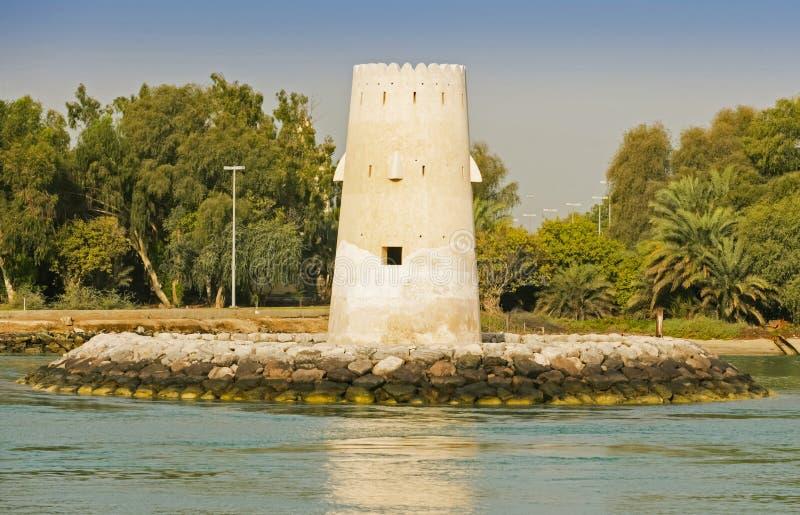 Al Maqta Watchtower en Abu Dhabi photo stock