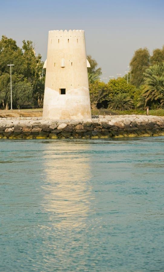 Al Maqta Watchtower en Abu Dhabi photographie stock