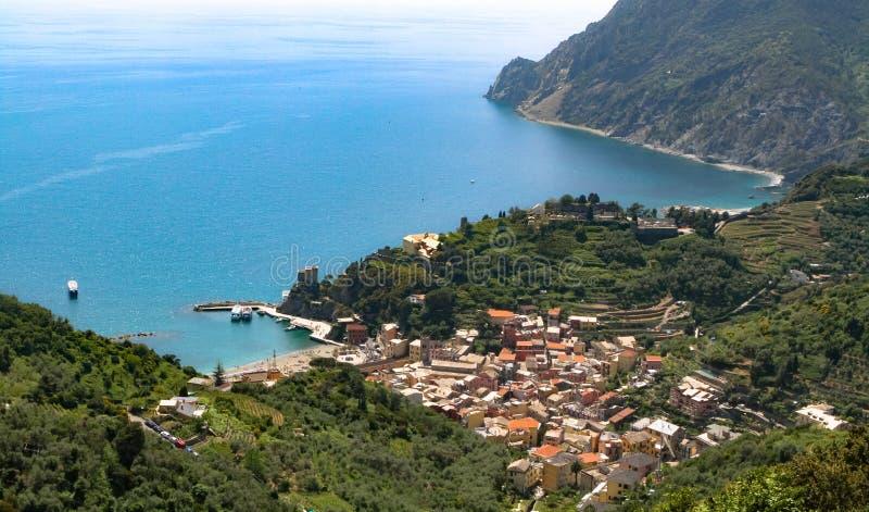 Al Mare Cinque Terre Italy de Colorfull Monterosso photos libres de droits