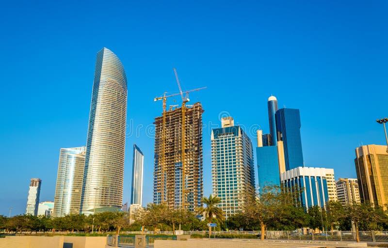 Al Markaziyah западное, район в Абу-Даби стоковые фото