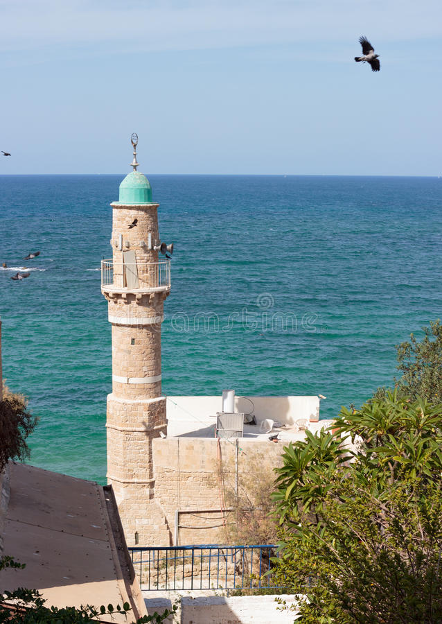 al meczet w starym mieście Izrael zdjęcie stock