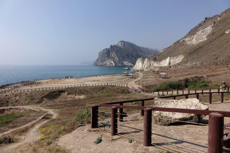 Al Mughsail Salalah, governorate de Dhofar, Sultanat d'Oman images libres de droits