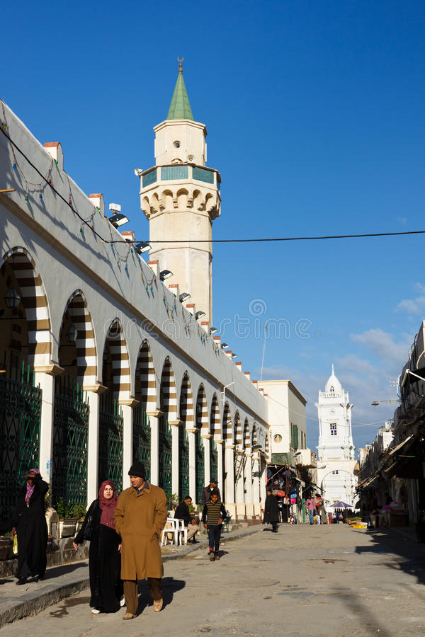 Al-Mushir de Souq, Trípoli, Libia foto de archivo libre de regalías