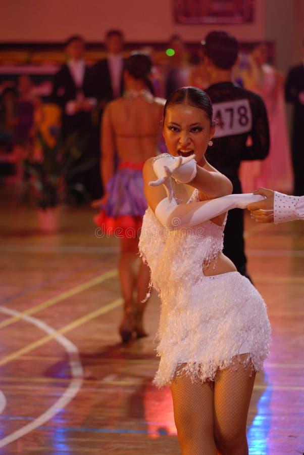 Al nacional de la danza del estándar internacional de grito-China Nanchang ábrase fotografía de archivo libre de regalías