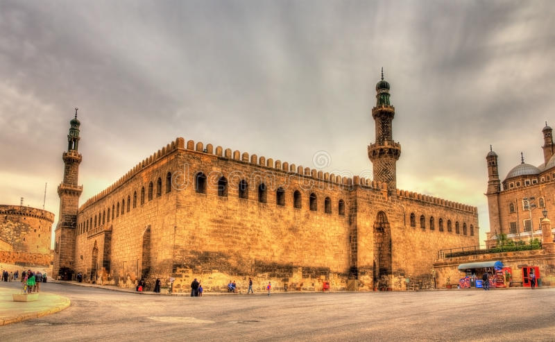 Al-Nasir Muhammad Mosque i Kairo arkivfoton