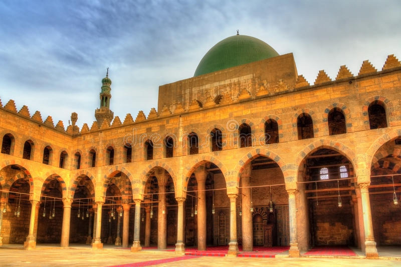 Al-Nasir Muhammad Mosque in Kaïro stock afbeelding