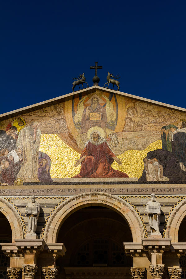 Al natiekerk, Jeruzalem stock afbeeldingen
