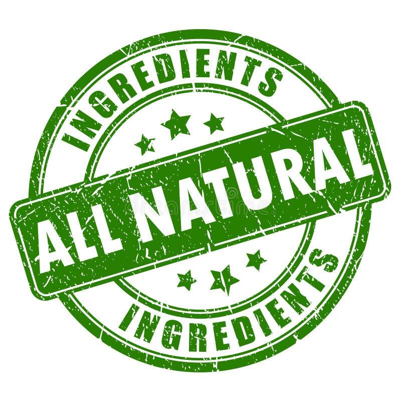 Al natuurlijke ingrediëntenzegel vector illustratie