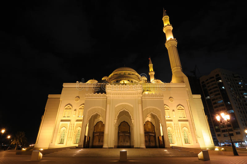Al Noor Moschee in Scharjah lizenzfreies stockbild