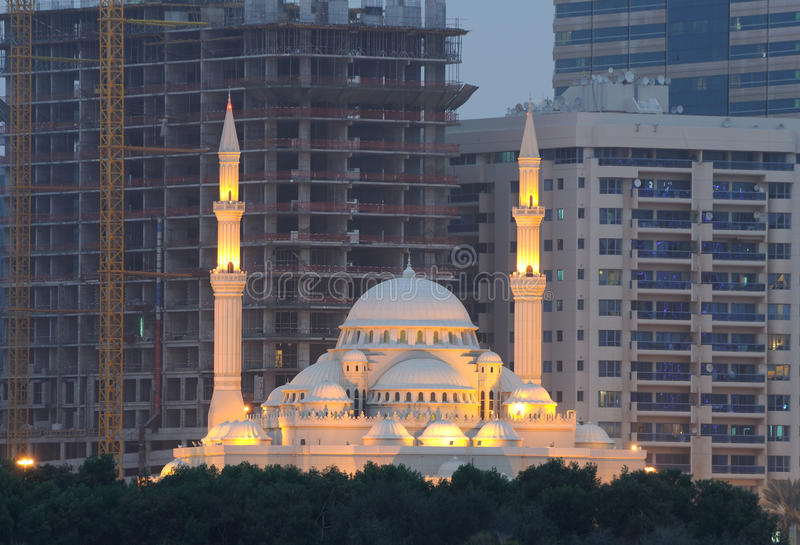 Al Noor Moskee in Sharjah stock fotografie