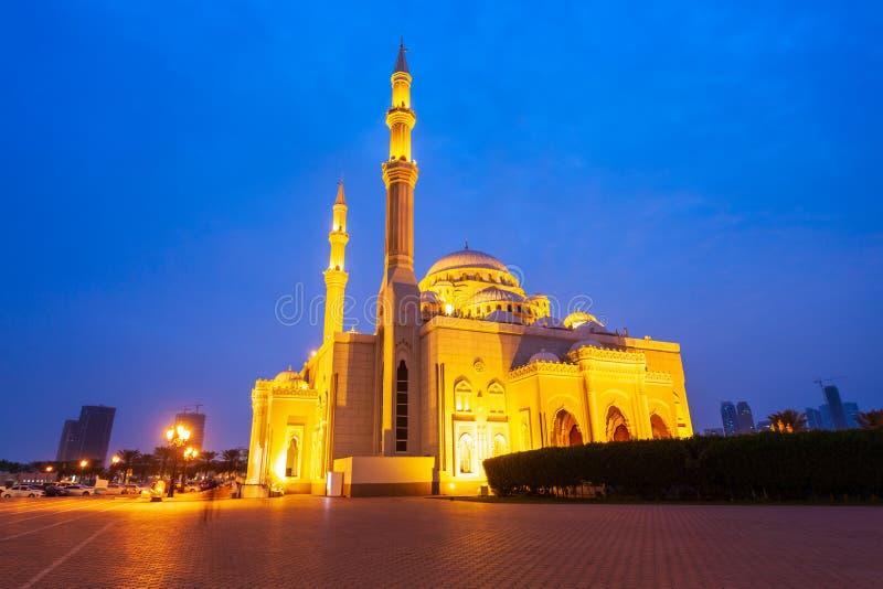 Al Noor Moskee in Sharjah stock foto