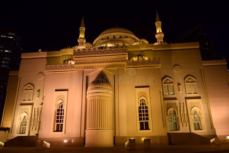 Al Noor Mosque bei Scharjah lizenzfreies stockfoto