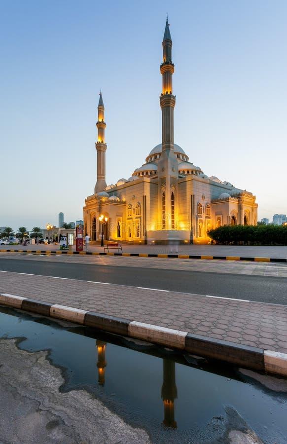 Al Noor Mosque, de V.A.E. royalty-vrije stock foto's