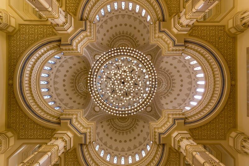 Al Noor Mosque i Sharjah, UAE royaltyfri fotografi