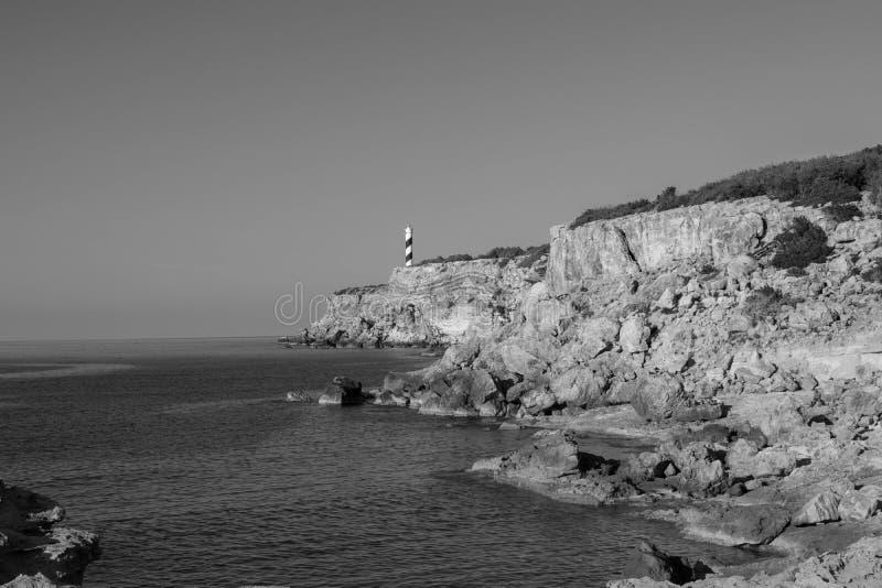 Al norte de Ibiza fotografía de archivo