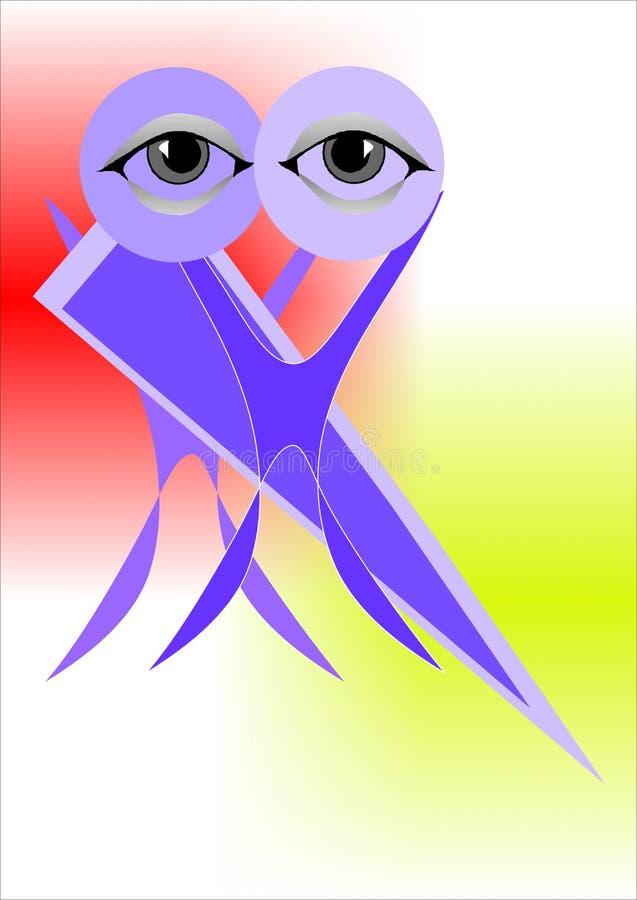 Al ojo ilustración del vector