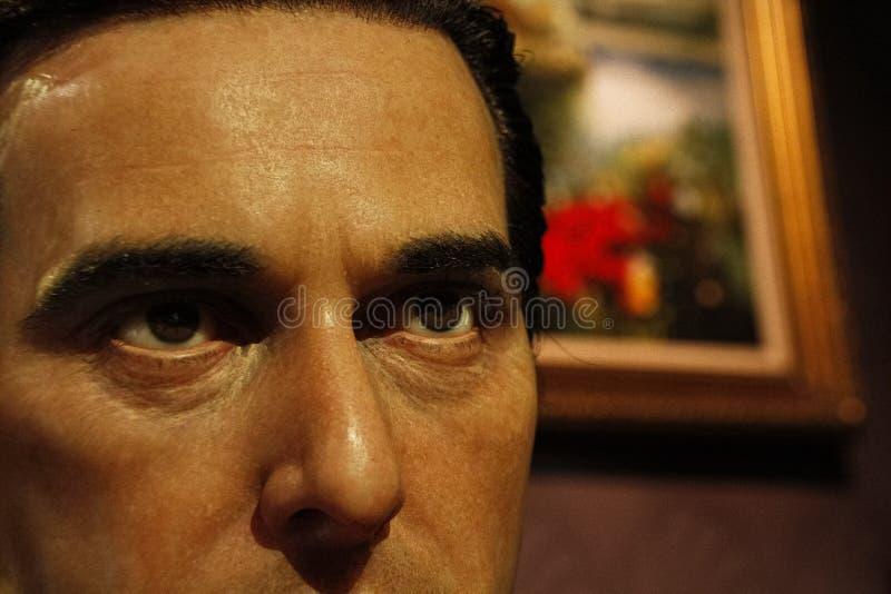 Al Pacino als Michael Corleone-waxwork cijfer royalty-vrije stock afbeelding