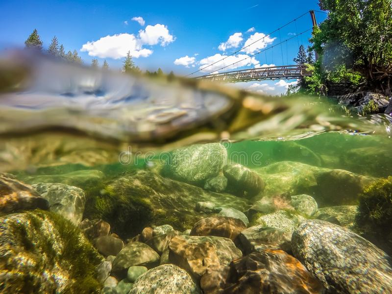 Al parco di stato della ciotola e del lanciatore della riva del fiume a Spokane Washington immagini stock libere da diritti