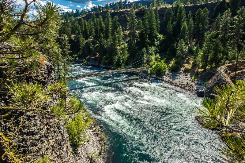 Al parco di stato della ciotola e del lanciatore della riva del fiume a Spokane Washington immagine stock