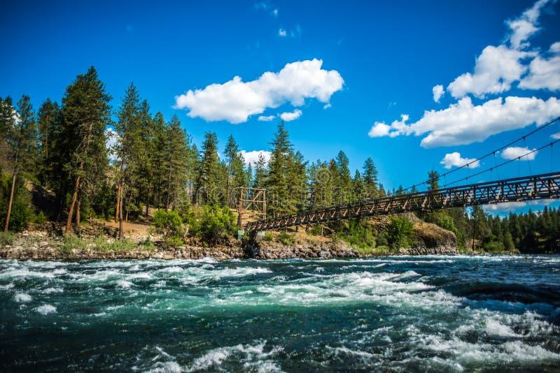 Al parco di stato della ciotola e del lanciatore della riva del fiume a Spokane Washington fotografia stock libera da diritti