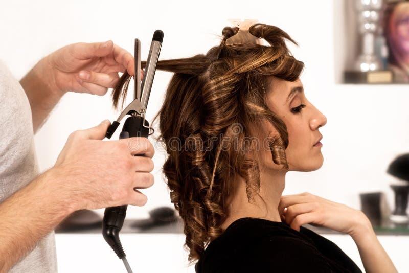 Al parrucchiere fotografie stock libere da diritti