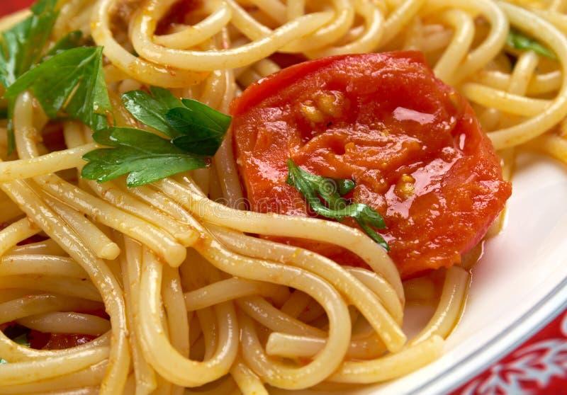 Al Pomodoro van spaghettipiccanti Fresko royalty-vrije stock fotografie