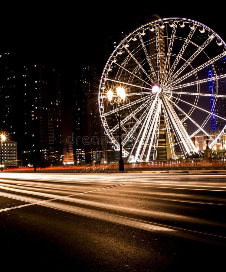 Al Qasba, Шарджа, ОАЭ стоковое изображение