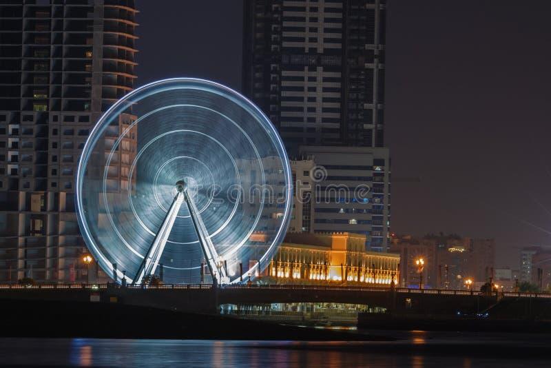Download Al Qasba Ferris Wheel stock photo. Image of arab, skyscrapers - 31908642