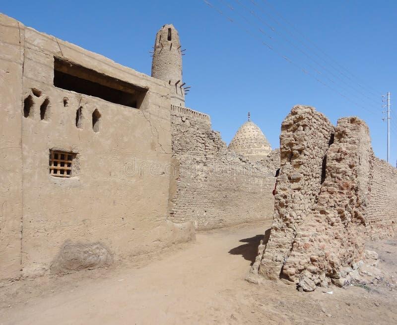 Al-Qasr an Dakhla-Oase stockbild