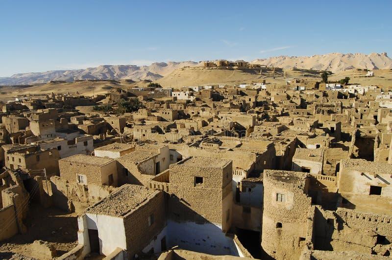 Al Qasr Village - Dakhla-Oase - Ägypten stockbild